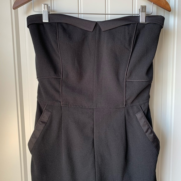 Dynamite Pants - Dynamite Strapless High Waisted Jumpsuit